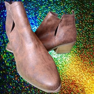 Just Fab Brown Booties